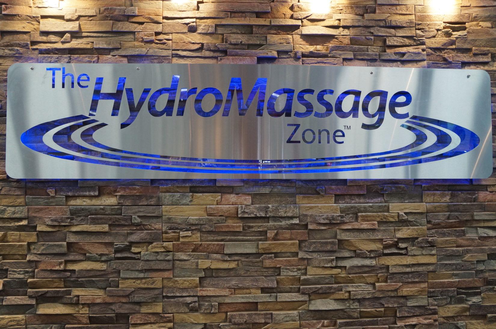 HydroMassage Zone Sign