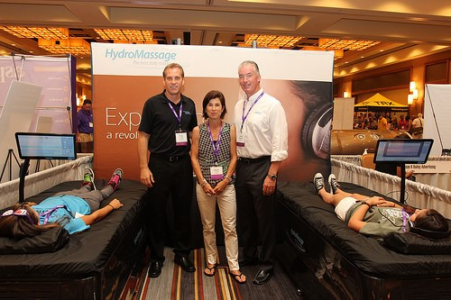 HydroMassage team at 2014 Anytime Fitness convention