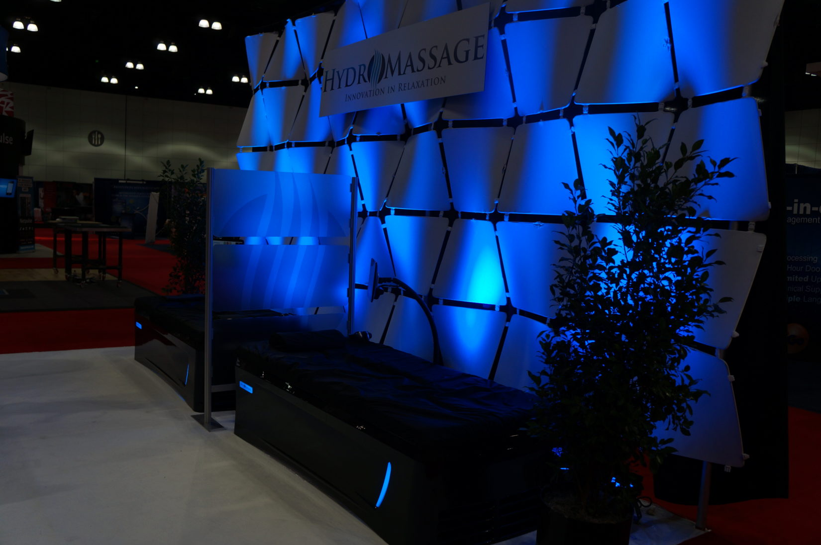 HydroMassage showroom booth