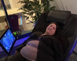 Woman Using HydroMassage