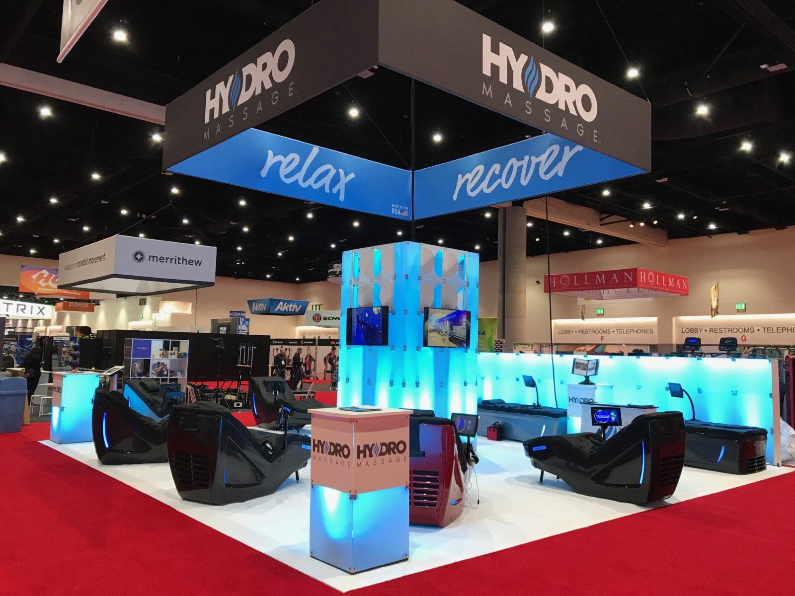 HydroMassage tradeshow booth
