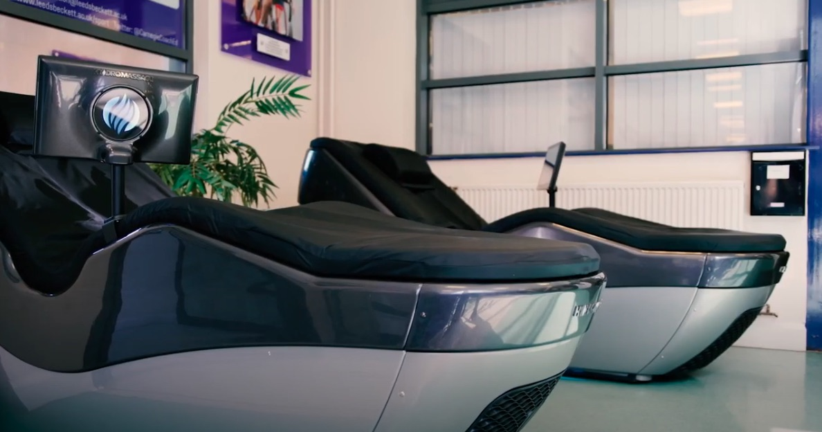 HydroMassage Lounges in a Chiropractor's Office